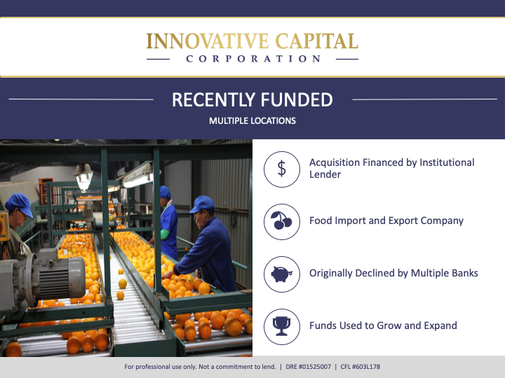 Food import and export company funded